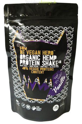Konopný proteín Be Vegan Hero vanilkový BIO SUM