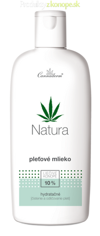 Konopné hydratačné pleťové mlieko NATURA Cannaderm 200ml
