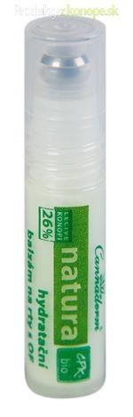 Konopný hydratačný balzám na pery s OF 10 NATURA Cannaderm 5ml