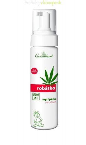 Konopná umývacia pena sensitive ROBÁTKO Cannaderm 200ml