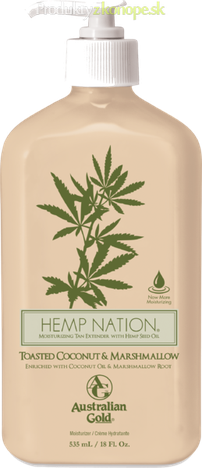 Krém po opaľovaní Hemp Nation Toasted Coconut&Marshmallow Australian Gold 535ml